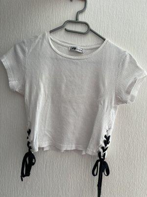 FB Sister Camicia cropped bianco-nero