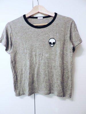 T-Shirt cropped mit Alien