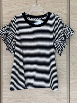 Current/elliott Short Sleeved Blouse black-natural white