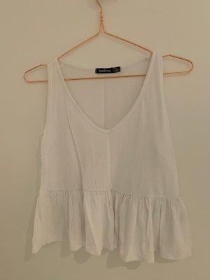 Boohoo V-Neck Shirt white