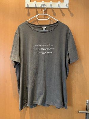 H&M T-shirt gris-blanc