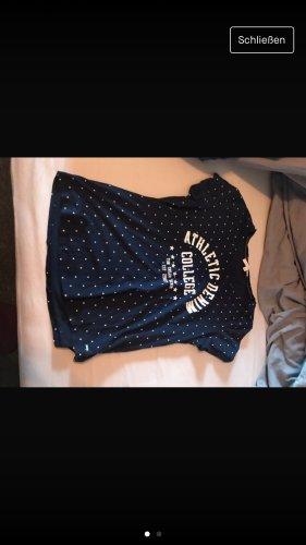 Tom Tailor Sweatshirt blanc-bleu foncé