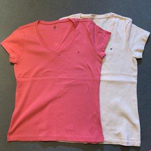 Tommy Hilfiger Camicia rosso chiaro-rosa pallido Cotone