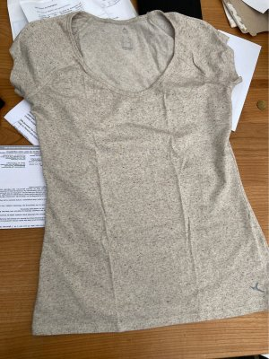 Decathlon T-shirt grigio chiaro-bianco
