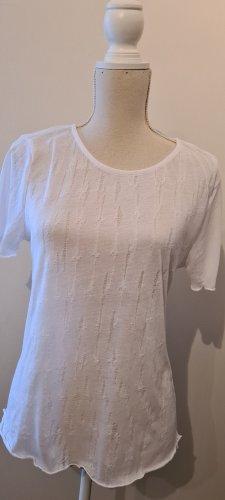 Zara Top en maille crochet blanc polyester