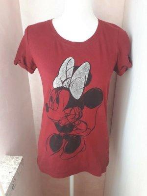 Disney T-Shirt dark red-carmine cotton