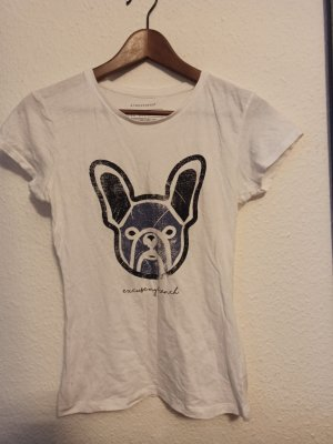 T-Shirt Dog Print Gr. 34 Weiß