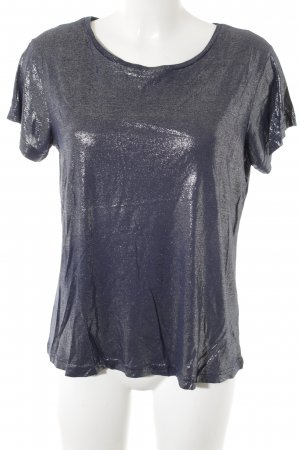 T-Shirt dunkelblau Glitzer-Optik