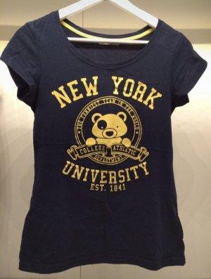 T-Shirt, dunkelblau mit Print