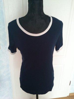 """T-Shirt dunkelblau mit weiß """"neuwertig"""""""