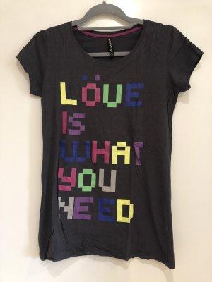 T-Shirt dunkelgrau, Schrift bunt, Suxess by Kenvelo, Gr. M