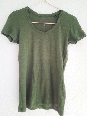 T-Shirt dunkles Militärgrün