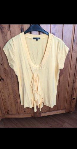 My Own V-hals shirt geel-sleutelbloem