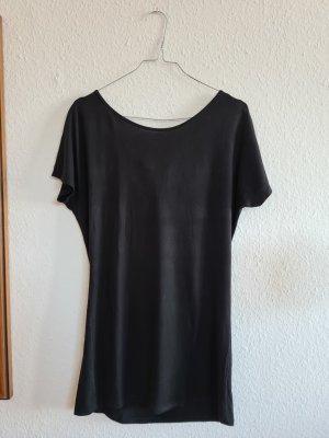 Stile Benetton Koszulka z dekoltem woda czarny Elastan