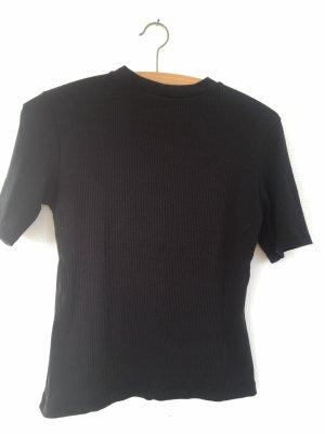 Zara Trafaluc Camisa acanalada negro