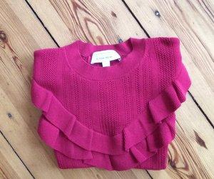 AndOtherStories Short Sleeve Knitted Jacket violet