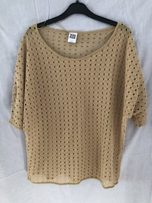 Vero Moda Crochet Shirt gold-colored