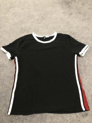 H&M T-shirt czarny-czerwony