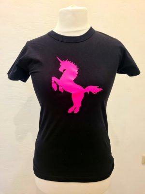 B&C collection T-shirt noir-rose coton