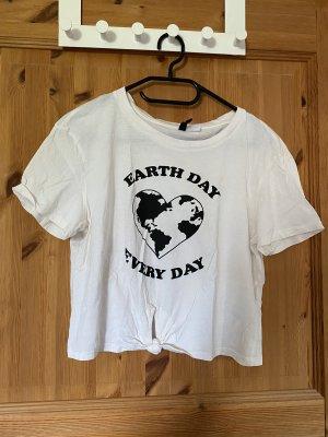 H&M Divided T-Shirt white-black