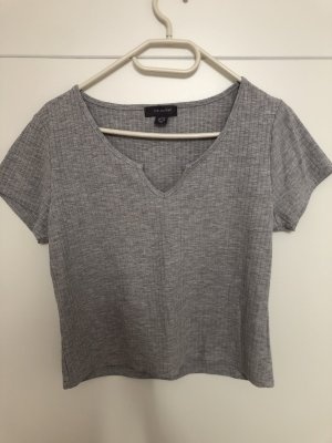 Primark Ribbed Shirt light grey-grey