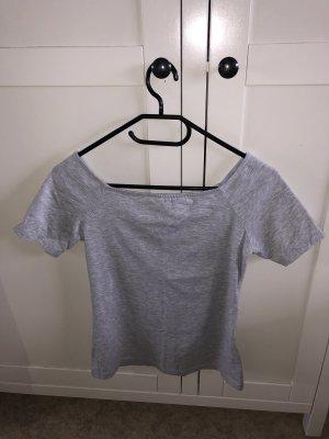 H&M Top épaules dénudées gris clair-gris