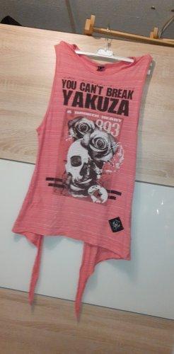 Yakuza Camicia lunga rosa
