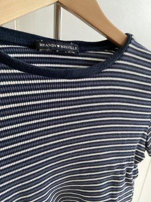 Brandy & Melville T-shirt court bleu foncé