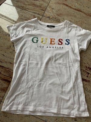 Guess T-shirt blanc-noir