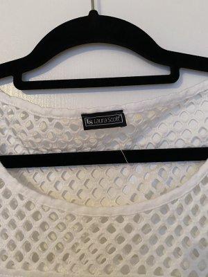 Laura Scott Siateczkowa koszulka biały