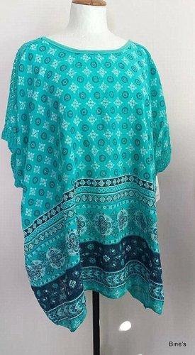 100% Fashion Oversized Shirt turquoise cotton