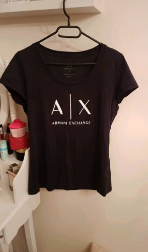 Armani Exchange T-Shirt white-black