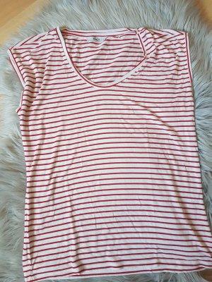 Only T-shirt biały-czerwony