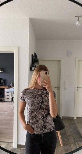 Bershka T-shirt rosa antico-nero