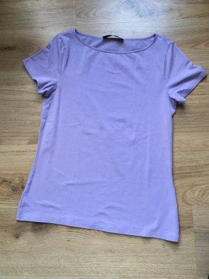 T-Shirt Flieder Hallhuber schlicht Neu
