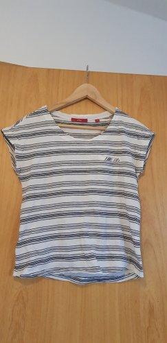 s.Oliver Shirt met print wit-zwart