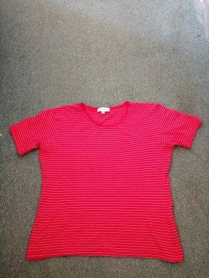 Barisal T-shirt rouge brique-blanc modal