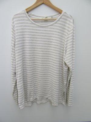 H&M Gehaakt shirt lichtgrijs