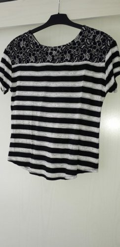 Promod T-shirt bianco-nero Viscosa