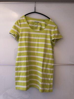 T-Shirt gestreift in strahlendem Hellgrün