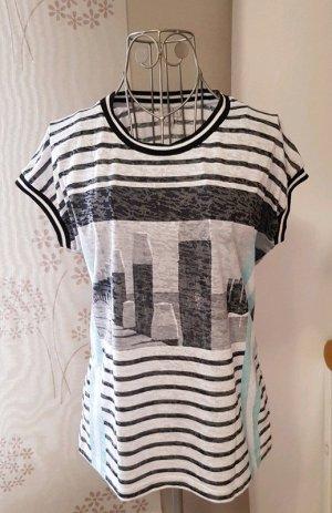 T-Shirt gestreift mit Print
