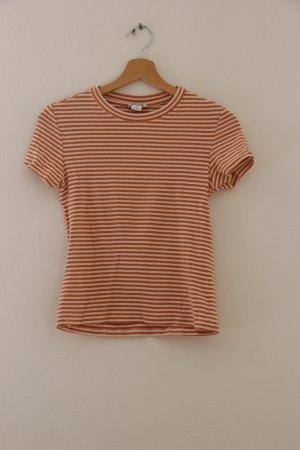 Monki Camiseta blanco-naranja
