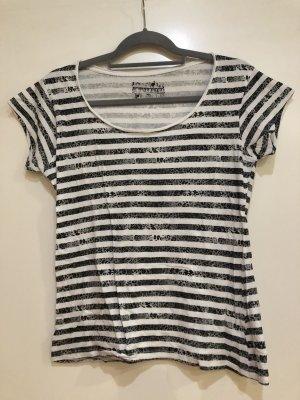 T-Shirt gestreift schwarz-weiß, Gr. 40, Atmosphere