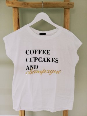 T-Shirt  Gr. 36-40 COFFEE CUPCAKES AND CHAMPAGNE