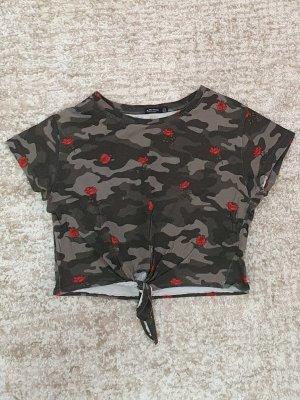 H&M T-shirt court multicolore