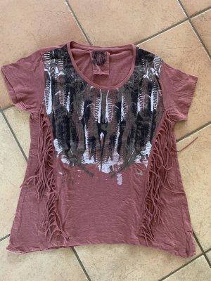 T-Shirt Gr 40 mit Fransen
