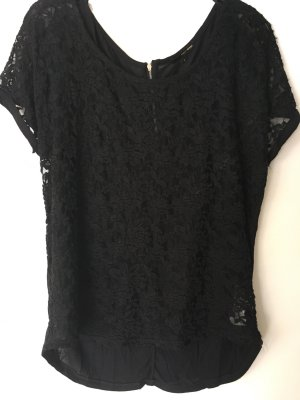 T-Shirt Gr L Spitze schwarz