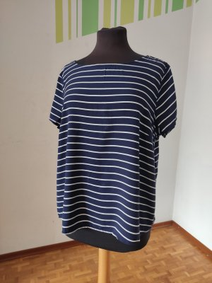 17&co T-Shirt white-dark blue
