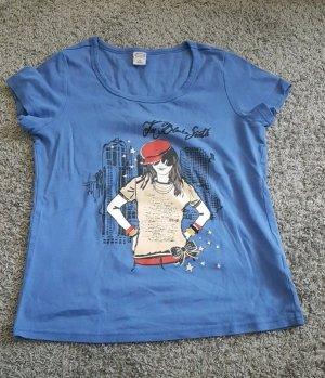 Cecilia Classics T-shirt bleu fluo