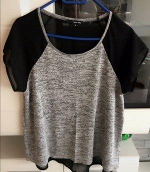 Tally Weijl T-Shirt black-light grey